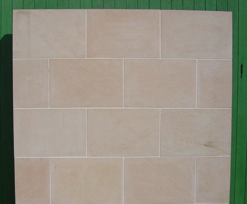 Pink sandstone honed finish