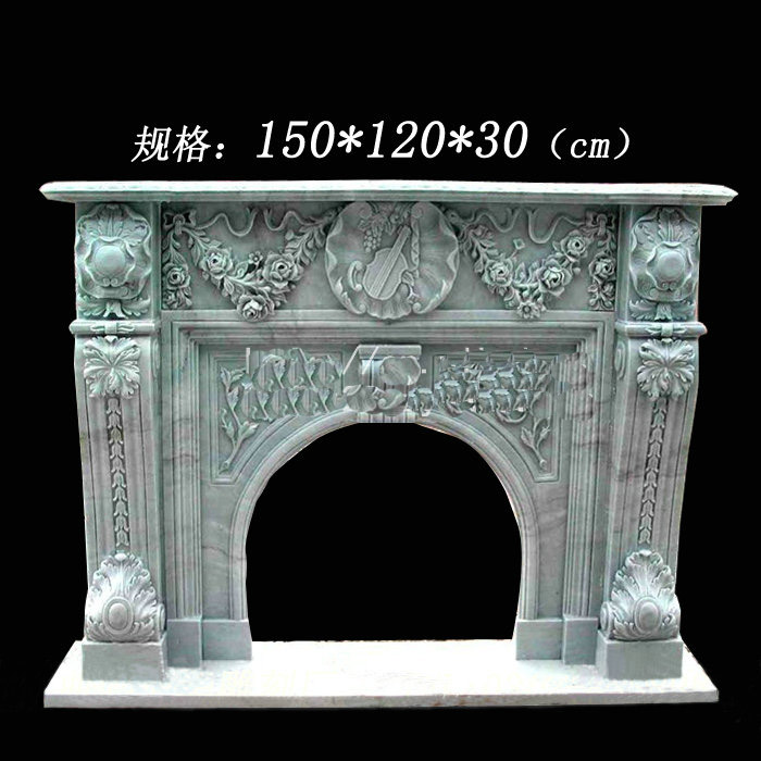 stone marble fireplace-1