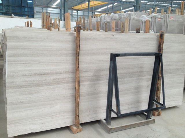 White and Grey Wood Grain Slab