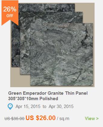 Green Emperador Granite Thin Panel
