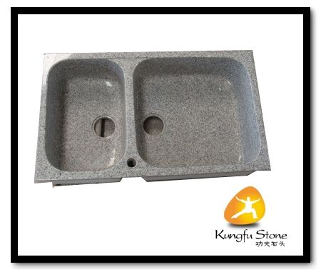 Grey granite stone sink