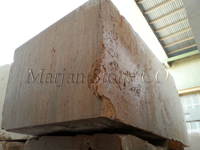 Iran Beige travertine Block