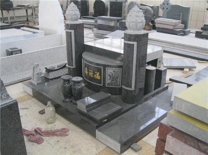 Southeast Asia style grante headstone