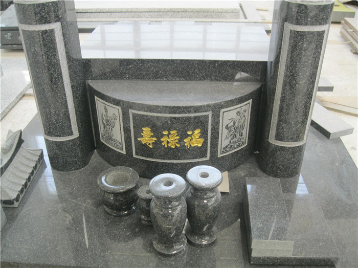 Traditional granite headstone for Southeast Asia