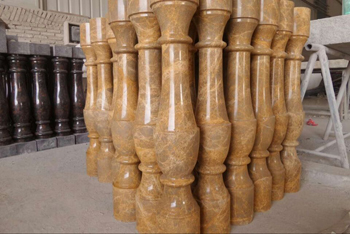 Imperial Gold Marble Pillar