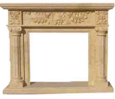 Yellow Marble fireplaces LYF-02