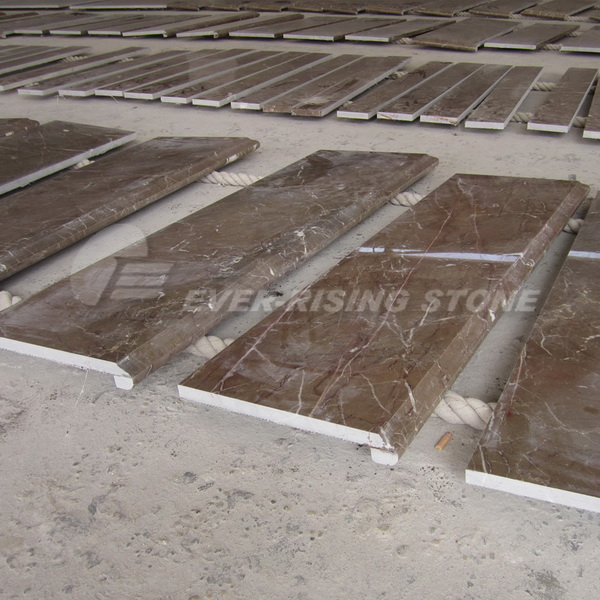 Brown Marble Tiles for Stair Step