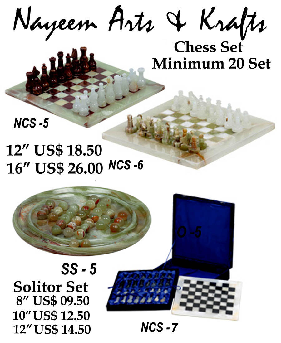 MARBLE ONYX CHESS SETS