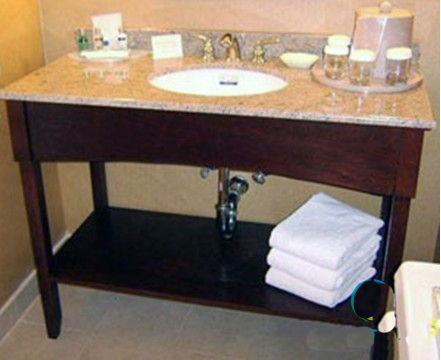New Design Bathroom Granite Vanity Top