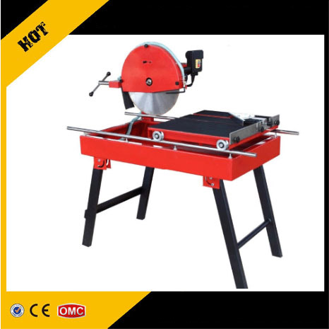 Small hand stone slab and tile cutting machine with water pump