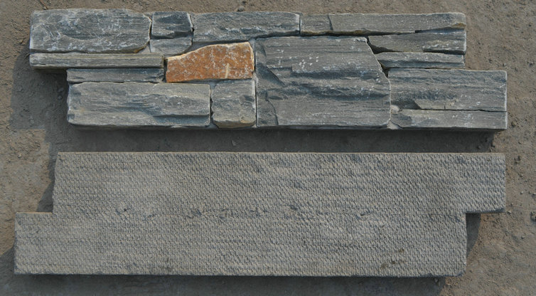 P013 Grey Slate color ledge stone cement based