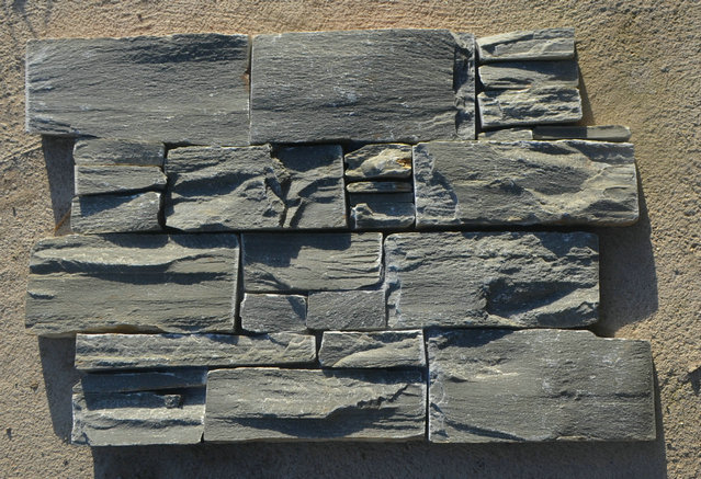 P013 Grey Slate color-exterior wall stone