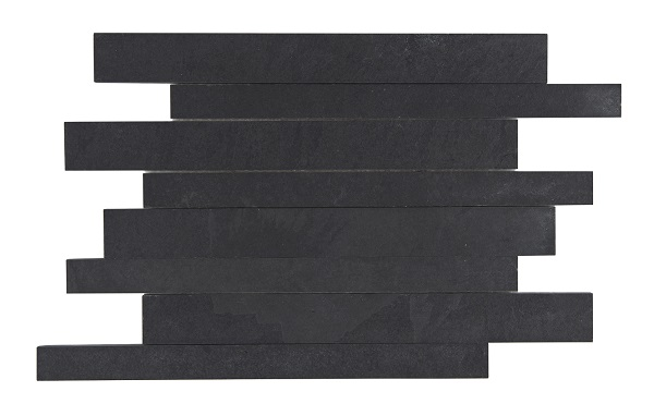 Portuguese Black Slate Natural Finish Mosaic