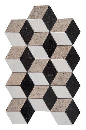 ortuguese Mosaic Cube Granit,White Marble and Gasc
