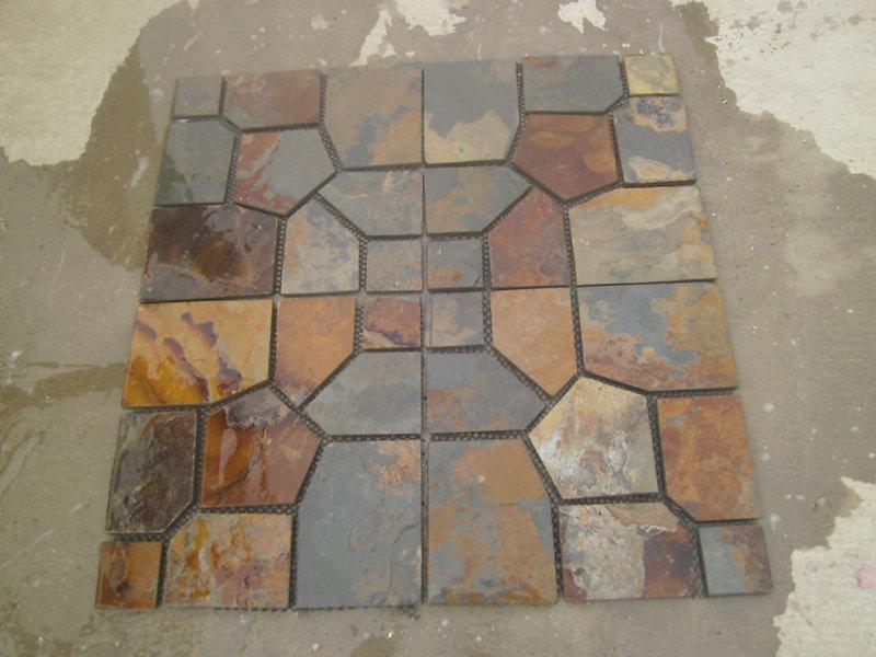 Tile Floor Medallions-Slate Material