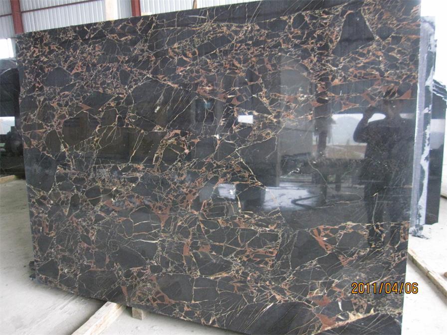 Nero Portoro Marble Black Polished finished Slabs Tiles
