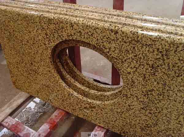 Giallo ornamentale countertop polished finished Ch