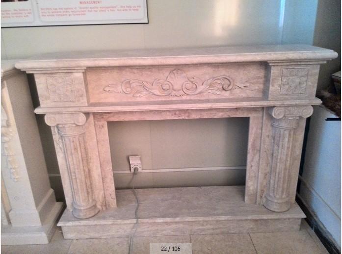 Greece thamoss white fireplace polished finished C