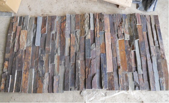 Multicolor Slate Culture Veneers, Ledge Stone Pane