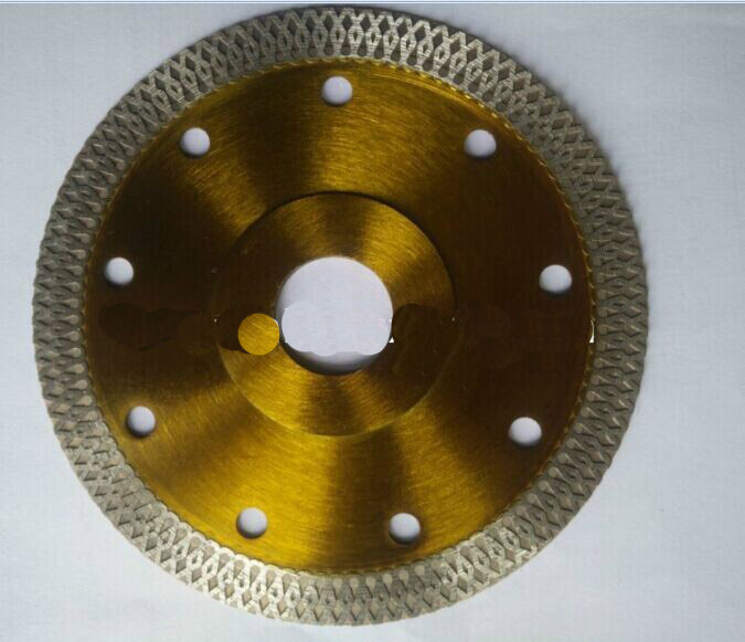 Diamond saw blade Hot pressed sintered super thin turbo with flang