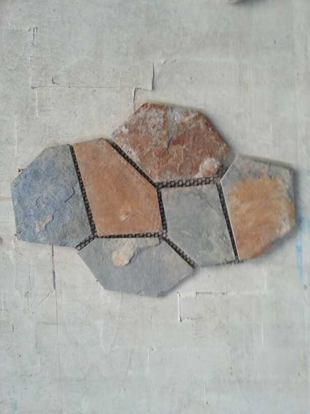 Rustic slate-flagstone