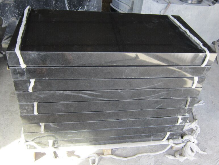 Fengzhen black granite rectangular monument