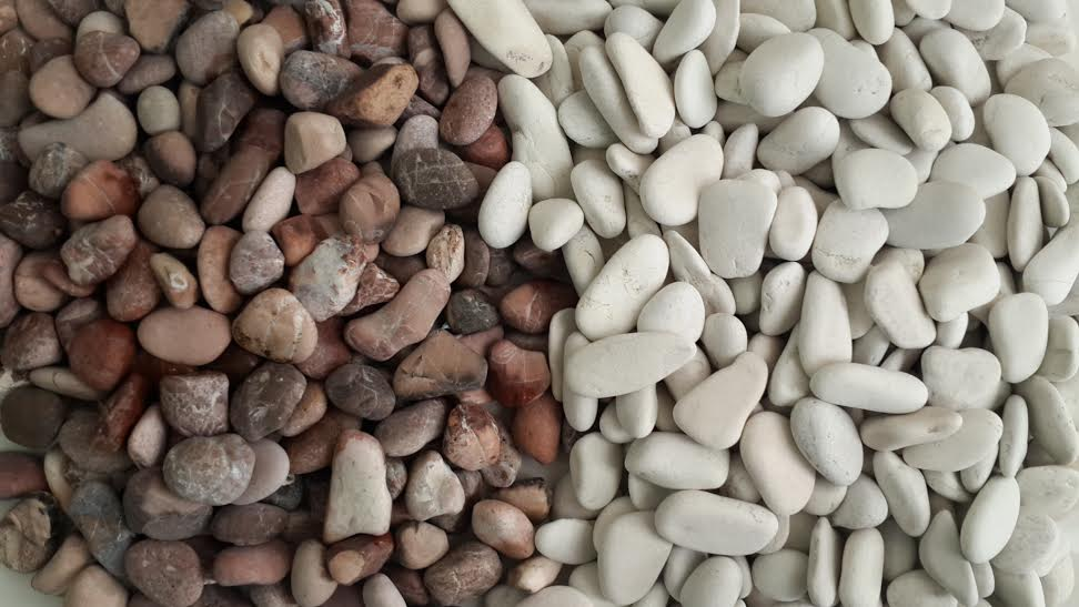 Red and White Pebble