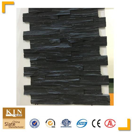 Black slate stone natural split wall cldding