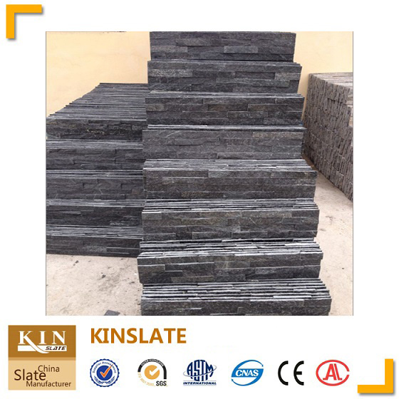 Kinslate black quartzite wall stone