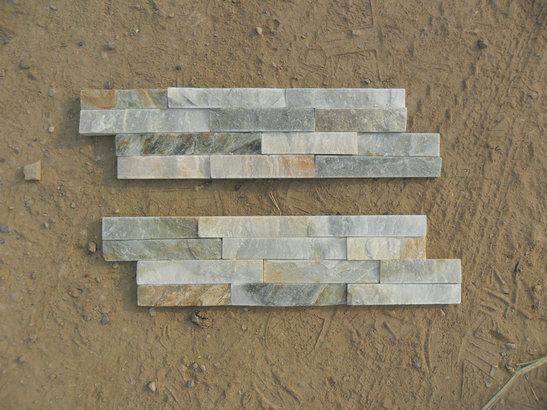 White and Greeny slate wall stone
