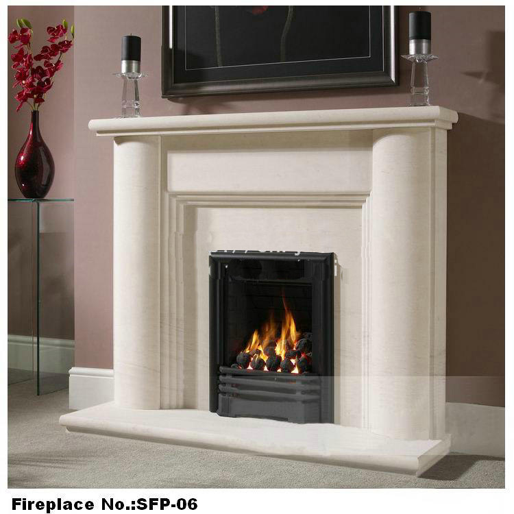 stone marble fireplace-2