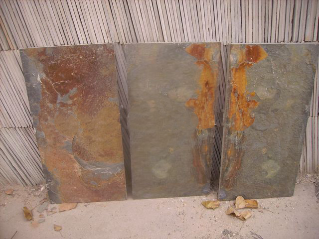 rusty slate tile for wall and floor