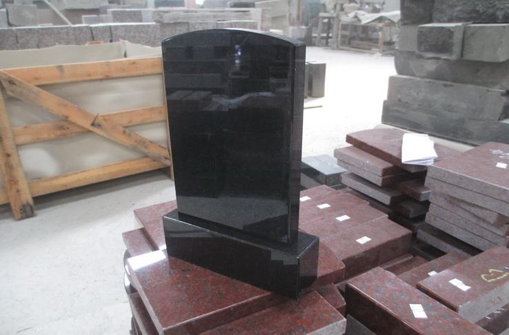 Simple design granite headstone