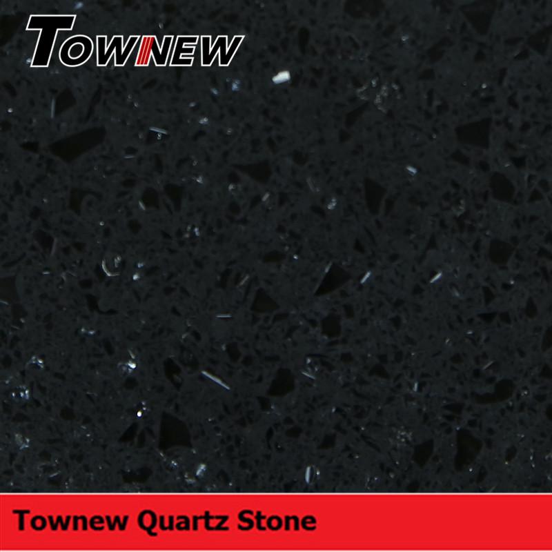 Artificial black quartz stone