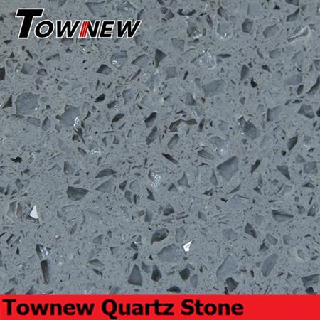 Grey artificial quartz stone with mirror inside