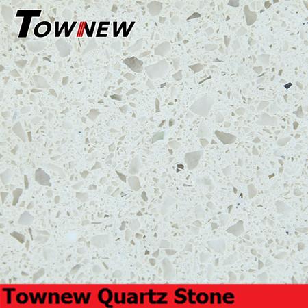 Beige artificial quartz stone with mirror inside