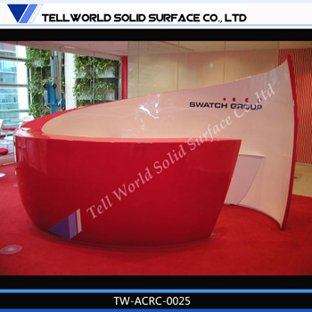 artificial marble used reception desk