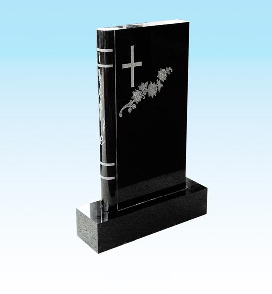Black granite headstone granite monumnent