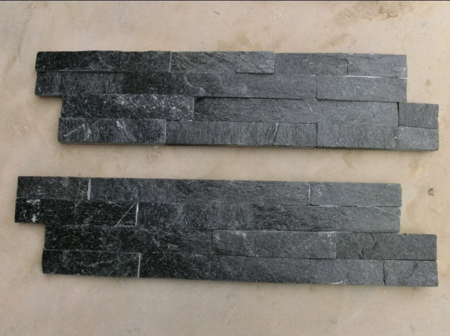 Black quartzite stone