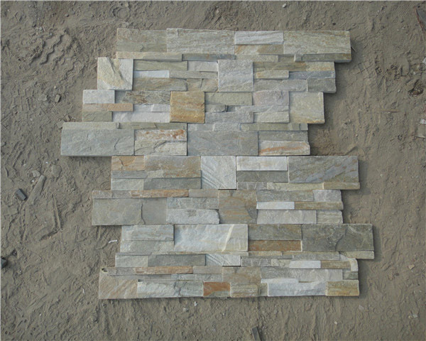 Beige color z clad stone wall culture slate tile