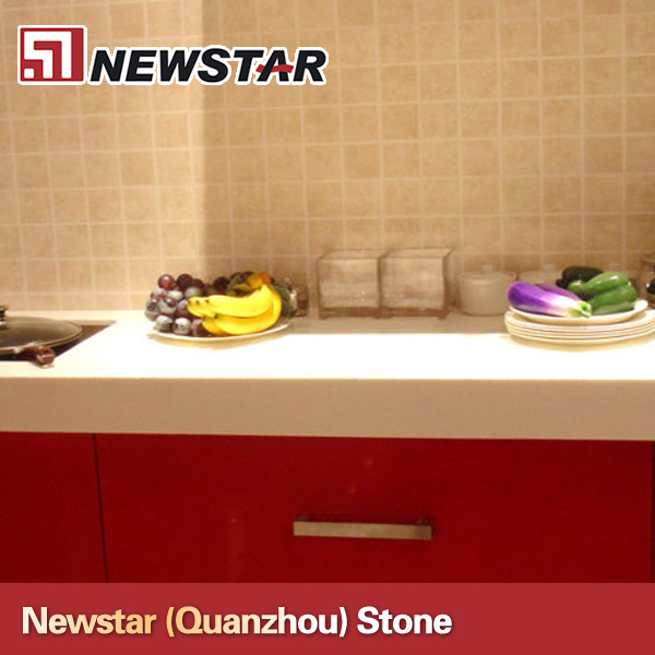 Newstar Artificial White Quartz Kitchen Countertop