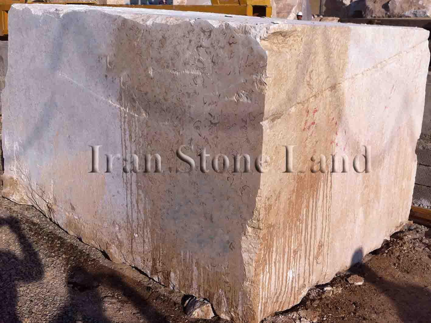 Bianco Perlato Marble Block