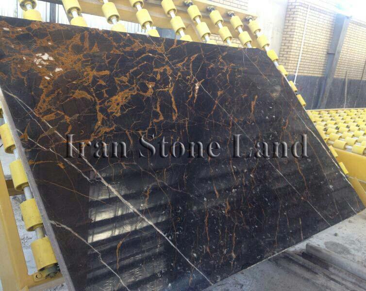 Black Bonanza Marble Slab
