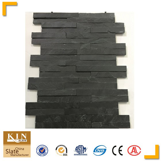 Kinslate black flat wall stone cladding