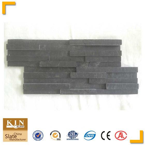New design slim strips 3d effect black wall panel