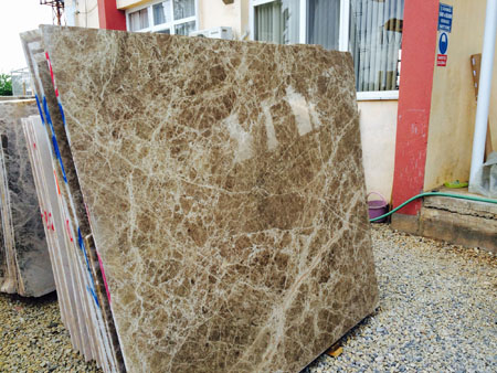 brown emperador marble