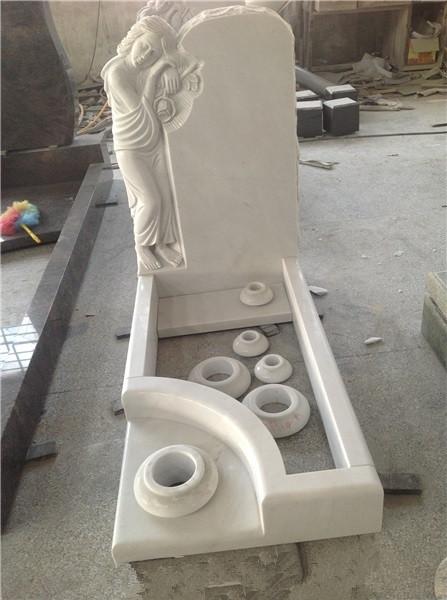 Headstone with vase
