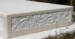 Carved stone elements and accessories
