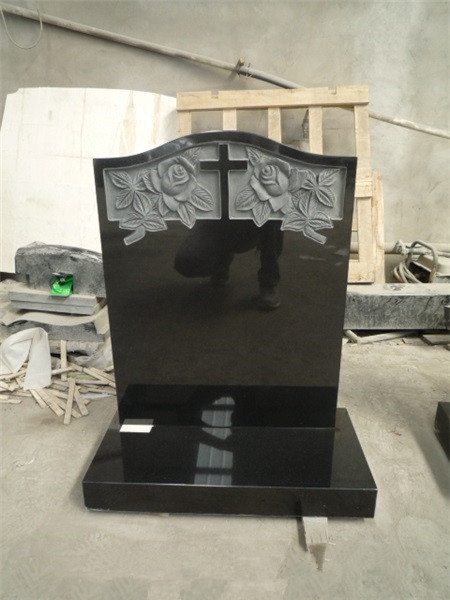 Traditional granite monument with base