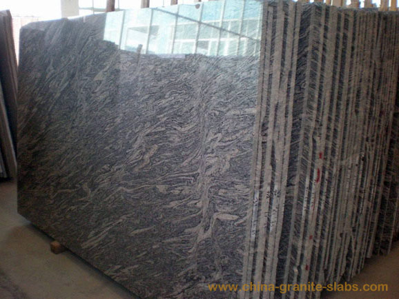 China Juparana Granite Slabs White Wave Sand Big